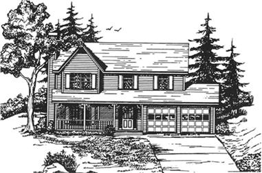 3-Bedroom, 1795 Sq Ft Small House Plans - 124-1122 - Main Exterior