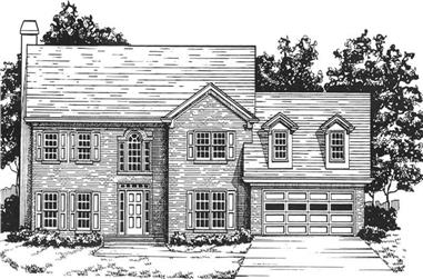 4-Bedroom, 2711 Sq Ft Colonial House Plan - 124-1126 - Front Exterior