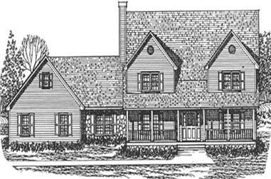 3-Bedroom, 2715 Sq Ft Farmhouse House Plan - 124-1127 - Front Exterior