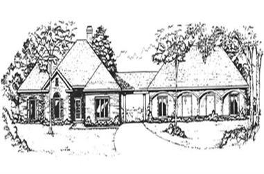 3-Bedroom, 2238 Sq Ft European House Plan - 124-1128 - Front Exterior
