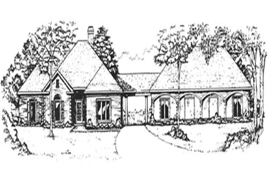 3-Bedroom, 2238 Sq Ft European House Plan - 124-1128 - Front Exterior