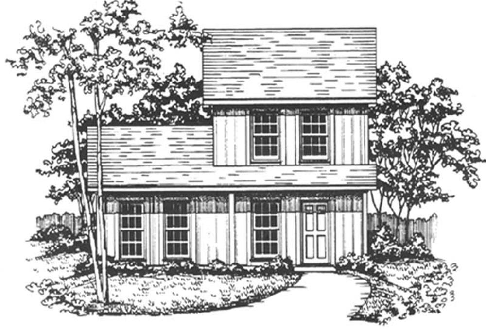 Front elevation of Country home (ThePlanCollection: House Plan #124-1130)