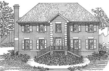 3-Bedroom, 2483 Sq Ft Colonial House Plan - 124-1131 - Front Exterior