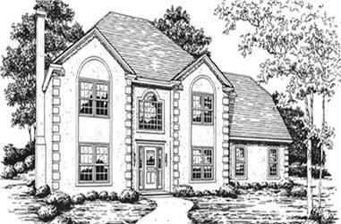 3-Bedroom, 2245 Sq Ft European House Plan - 124-1133 - Front Exterior