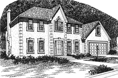 3-Bedroom, 2276 Sq Ft Colonial House Plan - 124-1134 - Front Exterior