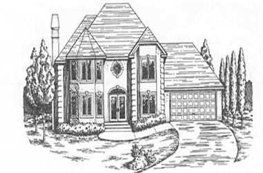 3-Bedroom, 2112 Sq Ft European House Plan - 124-1135 - Front Exterior