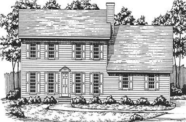 3-Bedroom, 2057 Sq Ft Cape Cod Home Plan - 124-1136 - Main Exterior