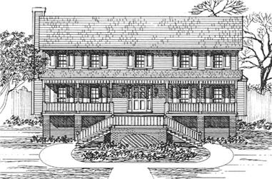 3-Bedroom, 2161 Sq Ft Georgian House Plan - 124-1138 - Front Exterior