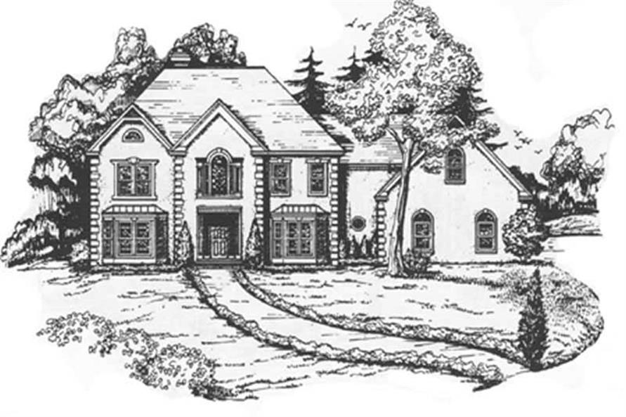 4-Bedroom, 4530 Sq Ft European Home Plan - 124-1140 - Main Exterior