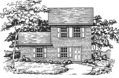 3-Bedroom, 1136 Sq Ft Country House Plan - 124-1142 - Front Exterior