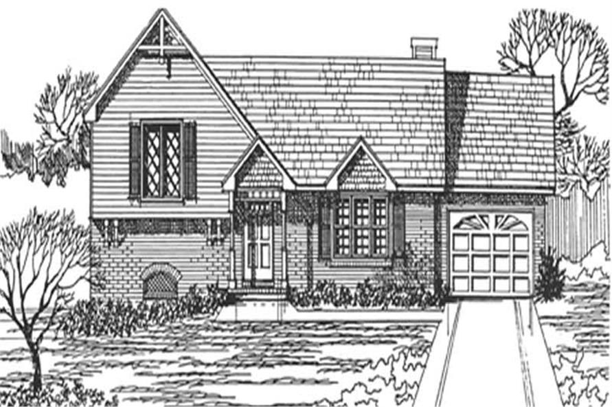 3-Bedroom, 1228 Sq Ft Country House Plan - 124-1144 - Front Exterior
