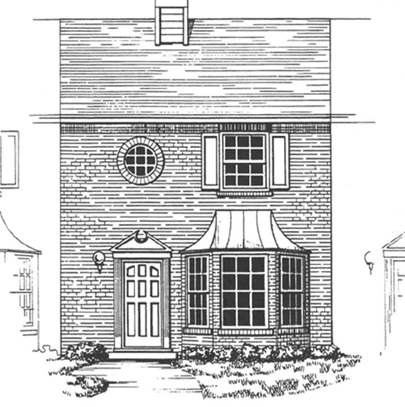 Townhouse In Colonial Style Plan 124 1145 2 Bedrooms
