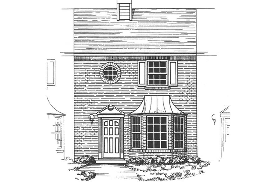 2-Bedroom, 1131 Sq Ft Condominiums House Plan - 124-1145 - Front Exterior