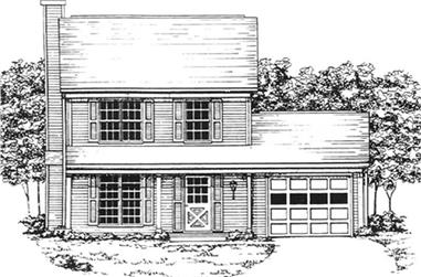 2-Bedroom, 1212 Sq Ft Country House Plan - 124-1146 - Front Exterior