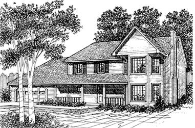 3-Bedroom, 1603 Sq Ft Contemporary Home Plan - 124-1147 - Main Exterior