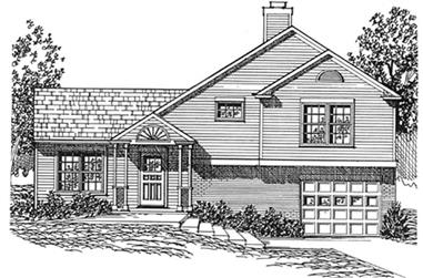 3-Bedroom, 1336 Sq Ft Country Home Plan - 124-1148 - Main Exterior