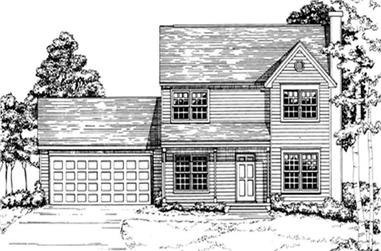 3-Bedroom, 1454 Sq Ft Multi-Level Home Plan - 124-1149 - Main Exterior