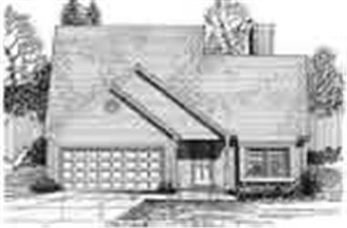 3-Bedroom, 1572 Sq Ft Ranch Home Plan - 124-1150 - Main Exterior