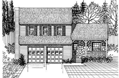 3-Bedroom, 1536 Sq Ft Farmhouse Home Plan - 124-1151 - Main Exterior
