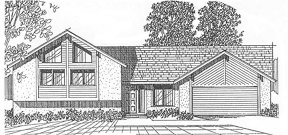 Ranch home (ThePlanCollection: Plan #124-1152)