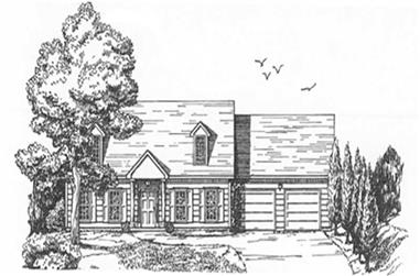 3-Bedroom, 1715 Sq Ft Ranch Home Plan - 124-1153 - Main Exterior