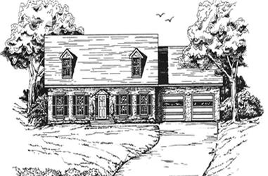 3-Bedroom, 1715 Sq Ft Country Home Plan - 124-1154 - Main Exterior