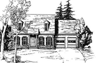 3-Bedroom, 1715 Sq Ft Country Home Plan - 124-1155 - Main Exterior