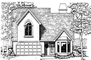 3-Bedroom, 1466 Sq Ft Ranch Home Plan - 124-1156 - Main Exterior