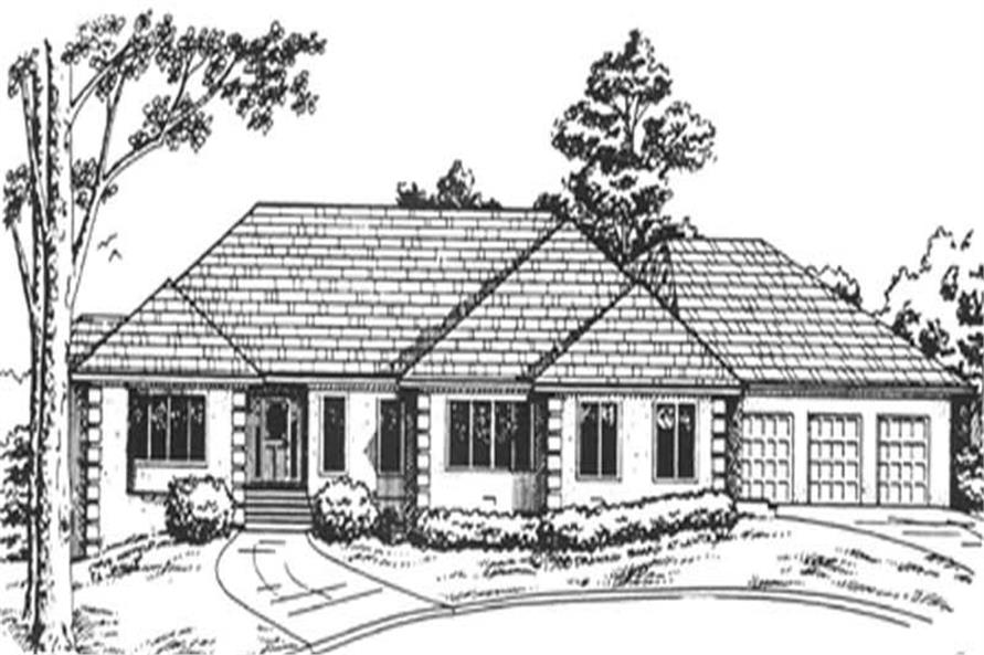 3-Bedroom, 3002 Sq Ft European House Plan - 124-1157 - Front Exterior