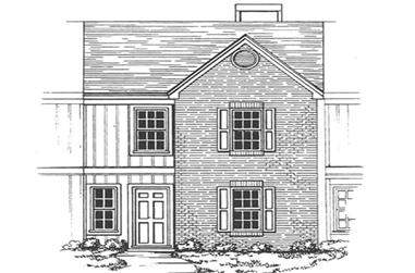 2-Bedroom, 1223 Sq Ft Condominiums House Plan - 124-1158 - Front Exterior