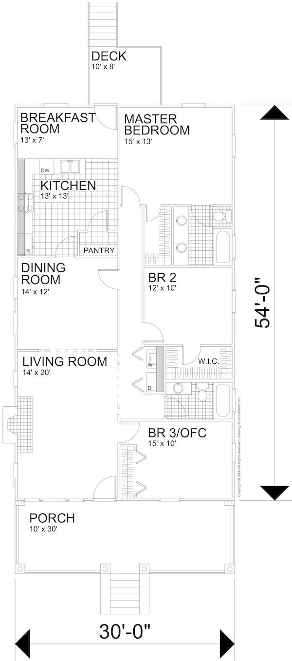 124-1159 house plan main level