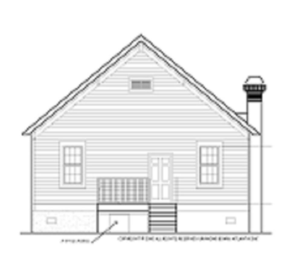 124-1159 house plan rear elevation