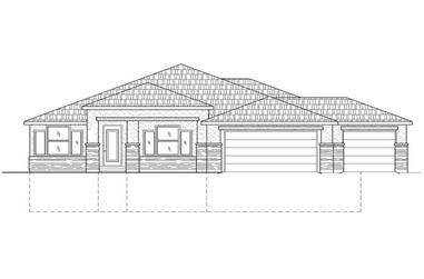 4-Bedroom, 2051 Sq Ft Contemporary Home Plan - 125-1002 - Main Exterior