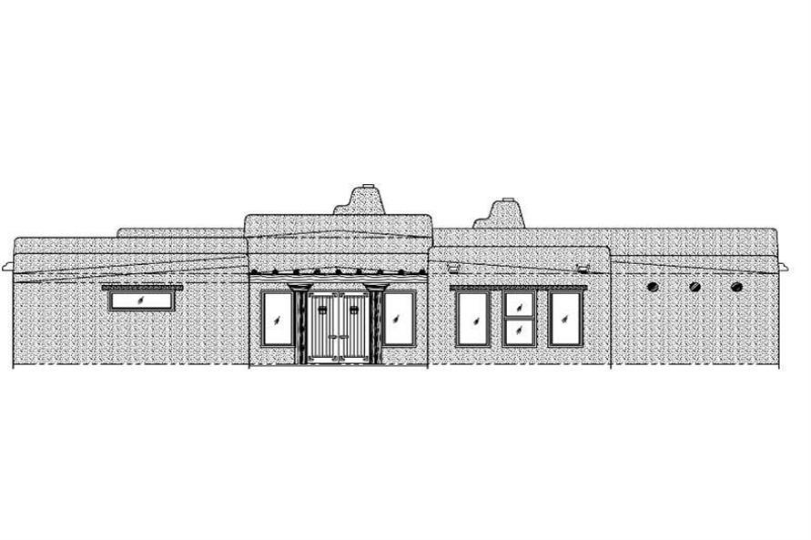 3-Bedroom, 2779 Sq Ft Southwest Home Plan - 125-1005 - Main Exterior