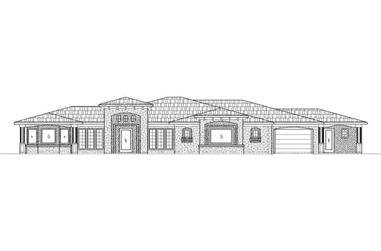 6-Bedroom, 2904 Sq Ft Contemporary Home Plan - 125-1009 - Main Exterior