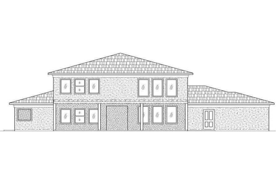 REAR ELEVATION OF HOMEPLANS