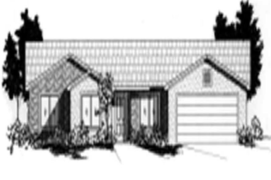 4-Bedroom, 1557 Sq Ft Country Home Plan - 125-1013 - Main Exterior