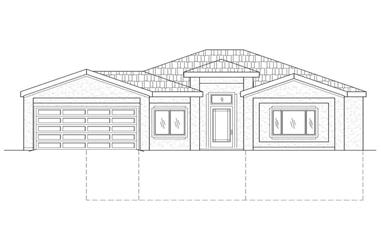 4-Bedroom, 1560 Sq Ft Contemporary Home Plan - 125-1016 - Main Exterior