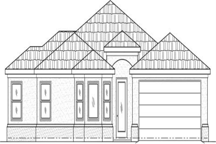 4-Bedroom, 1834 Sq Ft Contemporary Home Plan - 125-1018 - Main Exterior