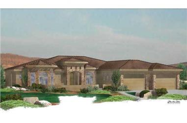 5-Bedroom, 2988 Sq Ft Mediterranean Home Plan - 125-1019 - Main Exterior