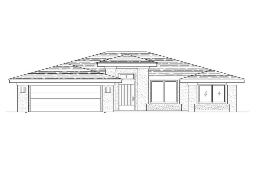 3-Bedroom, 1834 Sq Ft Southwest Home Plan - 125-1021 - Main Exterior