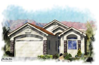 3-Bedroom, 1537 Sq Ft Contemporary Home Plan - 125-1022 - Main Exterior