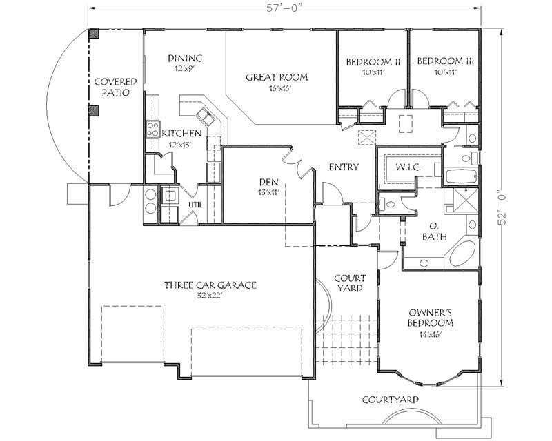 Southwest House Plans Home Design Dr Brooklyn 19306