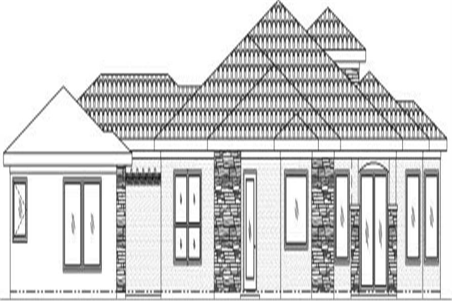 Home Plan Rear Elevation of this 4-Bedroom,3443 Sq Ft Plan -125-1025