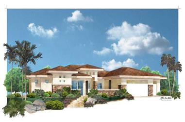 5-Bedroom, 3667 Sq Ft Contemporary Home Plan - 125-1033 - Main Exterior