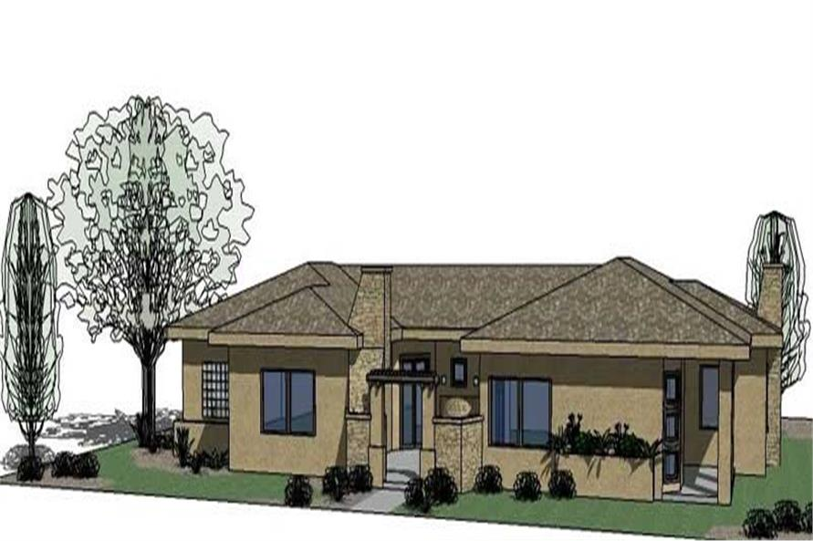 4-Bedroom, 2743 Sq Ft Mediterranean Home Plan - 125-1038 - Main Exterior