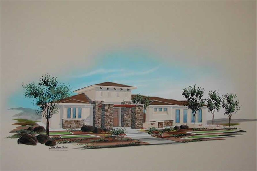 5-Bedroom, 2422 Sq Ft Contemporary Home Plan - 125-1039 - Main Exterior