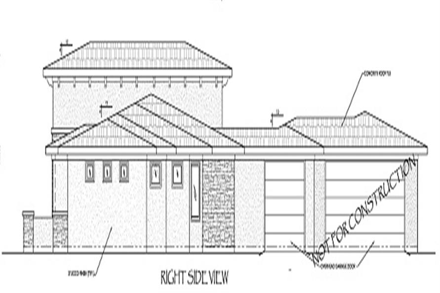 Home Plan Right Elevation of this 5-Bedroom,2422 Sq Ft Plan -125-1039