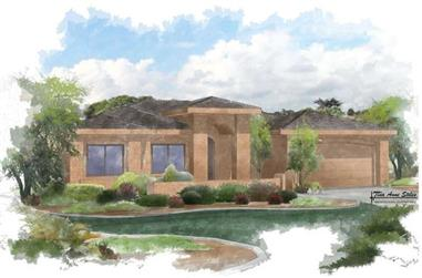 5-Bedroom, 2955 Sq Ft Contemporary Home Plan - 125-1041 - Main Exterior
