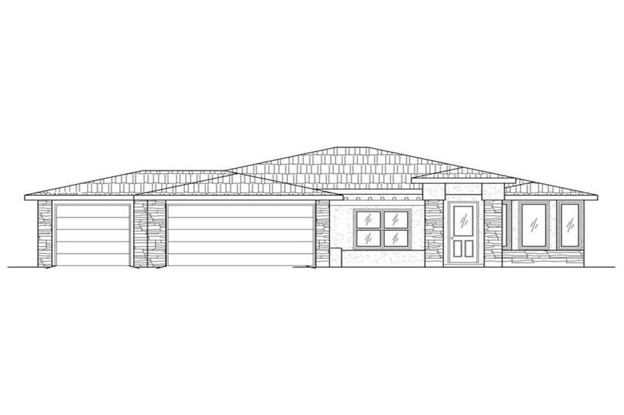 4-Bedroom, 1812 Sq Ft Contemporary Home Plan - 125-1043 - Main Exterior